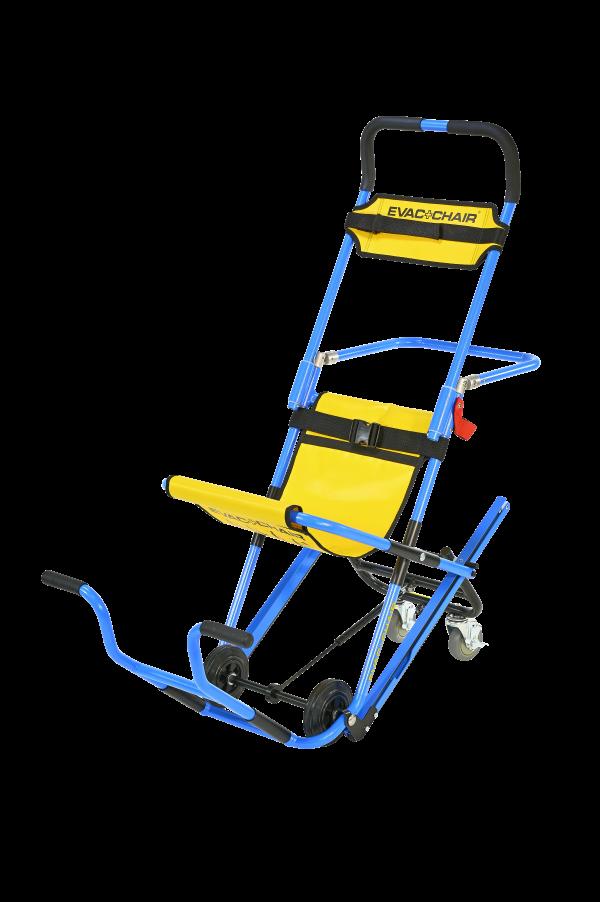 Evac+chair met draagbeugel